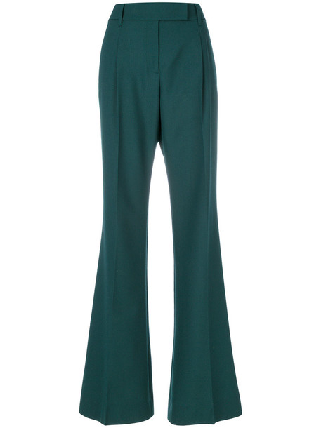 Prada high women wool green pants