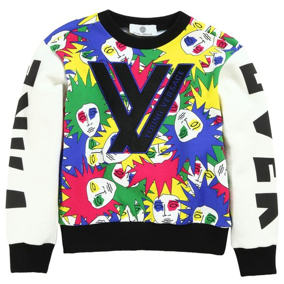 sweater versace boys sweatshirt toddler multicolor