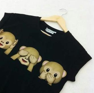 shirt monkey emoij