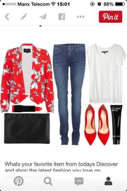 jacket blazer tank top shoes