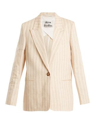 blazer cream jacket