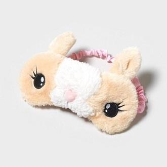 pajamas sleep mask fluffy bunny easter