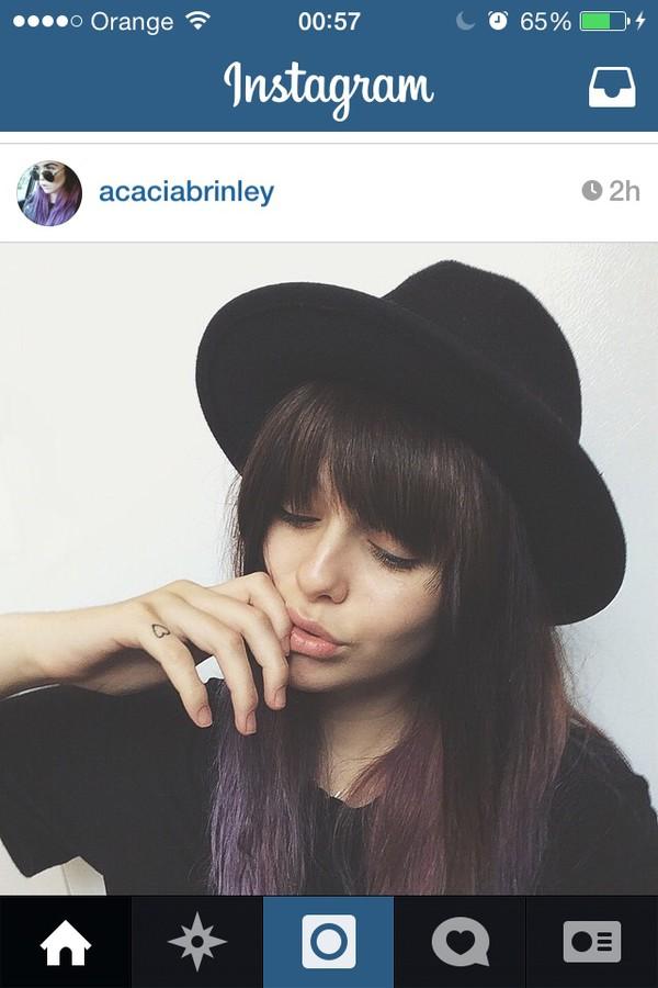 acacia brinley black hat brinley grunge purple hair acacia brinley hat