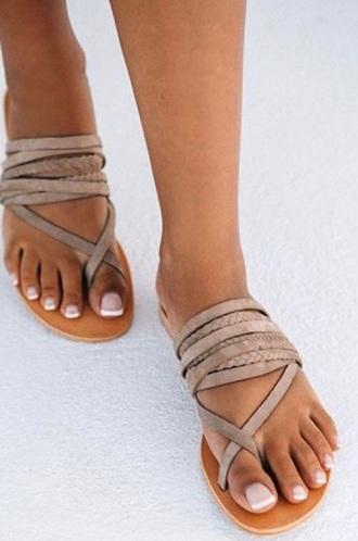 shoes bohemian leather sandals