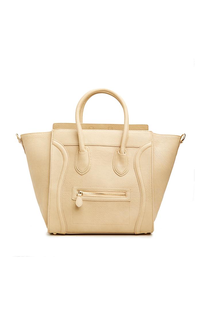Dailylook: dailylook large structured handbag in beige