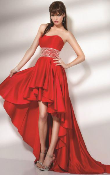 2014 Short Front Long Back Red Cocktail Prom Dress LFNAE0006, Shop Prom with SheinDress.co.uk