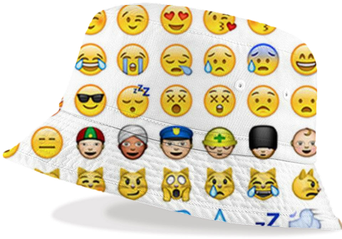 Emoji bucket hat created by ShawtyTrill. | Print All Over Me