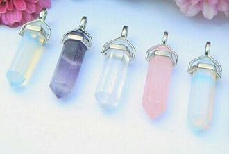 jewels crystals pink blue purple white