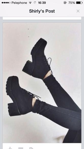 shoes black boots black heels
