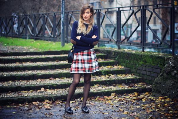 fashion quite skirt sweater shirt bag shoes