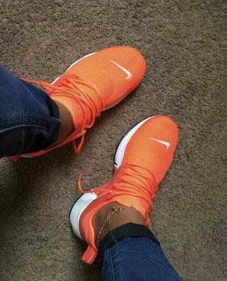shoes nike orange nike presto