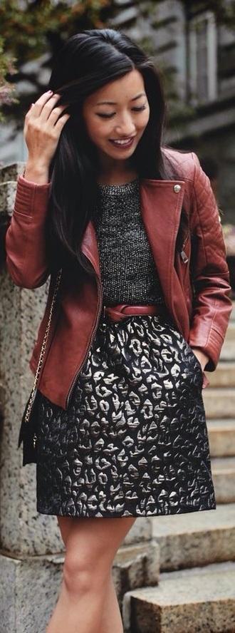 this metallic skirt! metallic leopard metallic skirt