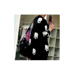 skull cardigan black jacket white jacket