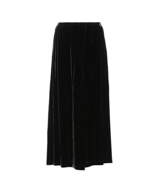 McQ Alexander McQueen skirt velvet skirt velvet black