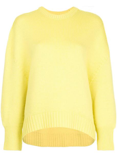 Astraet jumper women wool yellow orange sweater