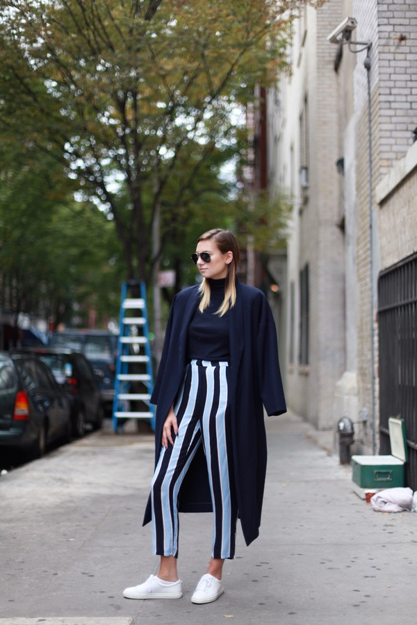 we wore what blogger striped pants stripes