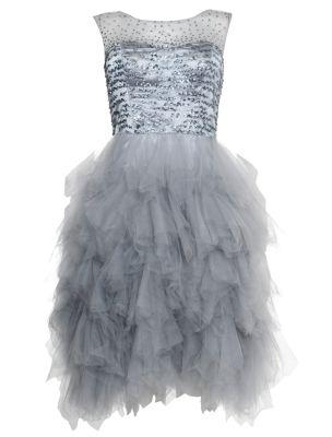 f7b81fc959 Ruby Prom Silver Kendal High Neck Ruffle Prom Dress