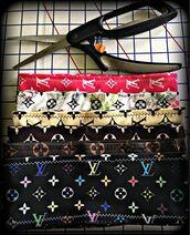 hair accessory,lv headband,monogram,monogrammed,louis vuttion,printed headband,headband