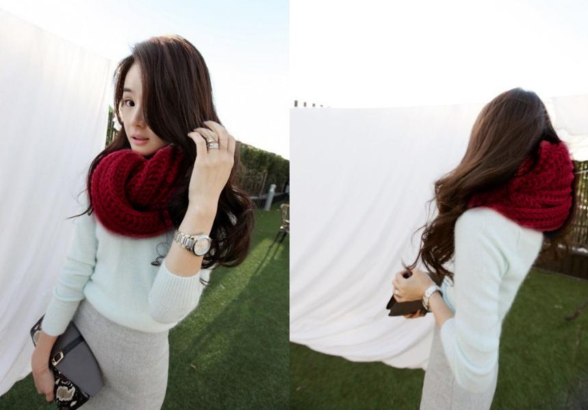 2013 Winter Fashion Lady Longo Lã mulheres homens unisex pescoço wrap lenço feito malha quentes silenciador lenço lenços para as mulheres Xaile Warmer em Cachecóis - Feminino de Roupas & acessórios no AliExpress.com | Alibaba Group