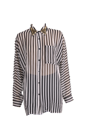 blouse shirt stripes chiffon hipster office outfits party outfits