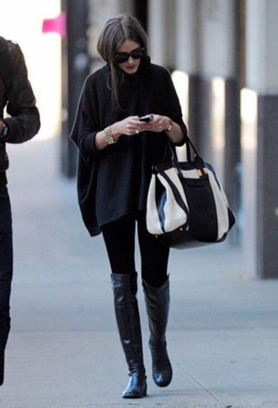 olivia palermo coat shoes bag