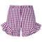 House of holland gingham ruffle shorts - farfetch