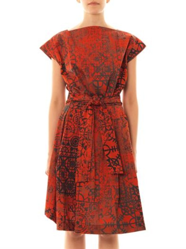 dress vivienne westwood anglomania moa stave lace-print dress