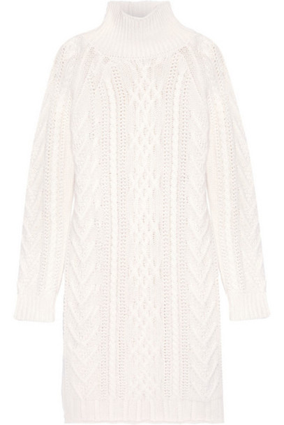 9e8aef6aa Max Mara Max Mara - Granada Cable-knit Wool And Cashmere-blend Sweater  Dress - Off-white