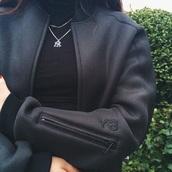 coat,y-3,or y-8,black,jacket,black jacket,adidas,all black everything,long sleeves,zip,swag,fashion,urban,winter jacket,winter outfits,streetwear,tumblr,dope,bomber jacket,black bomber jacket