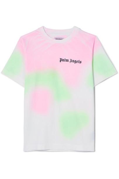 Palm Angels t-shirt shirt t-shirt white cotton top