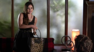 bag pretty little liars aria montgomery lucy hale dress