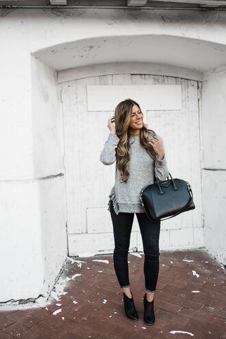 mint arrow blogger sweater shoes jeans bag