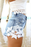 Cut-off Denim Shorts - Juicy Wardrobe