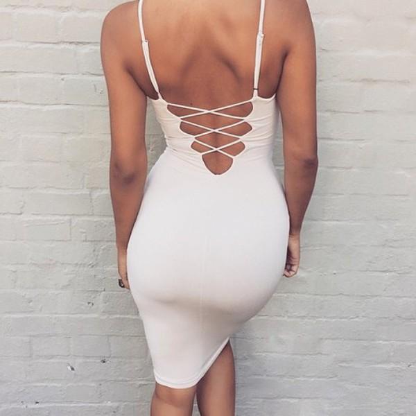 Party dress bodycon dress open back open back dresses wheretoget