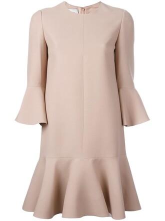 dress mini dress mini women couture nude silk wool