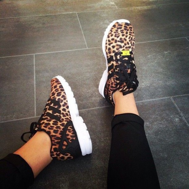 1e7056213a95 shoes leopard print running shoes cheetah print shoes adidas fashion style  back to school shorts adidas