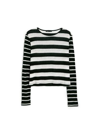 monochrome striped t-shirt