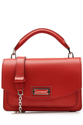 bag shoulder bag leather red