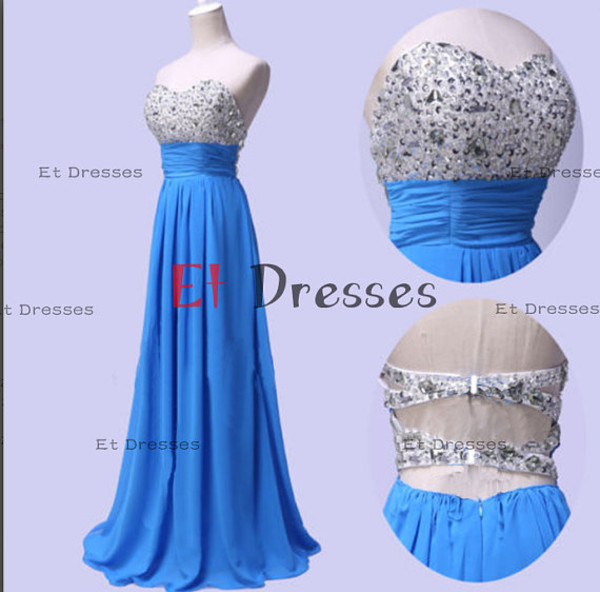 dress formal dress evening dress prom dress blue dress open back short