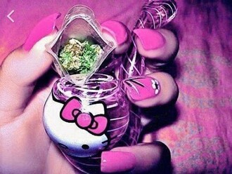 home accessory pipe hello kitty weed pink