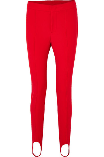 Moncler Grenoble - Stretch-twill Stirrup Pants - Red