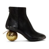 heel,ball,heel boots,black,shoes