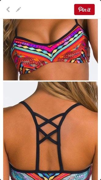 swimwear aztec bathing suit top