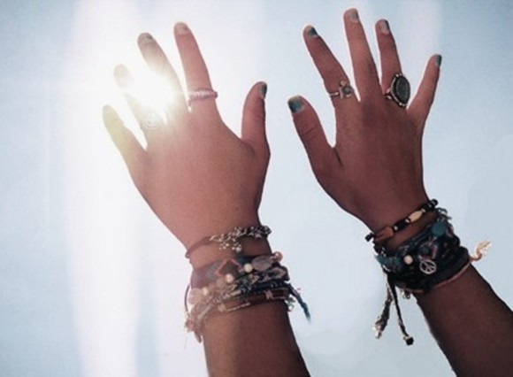 girly boho indie bohemian hippie jewels bracelet ring summer jewelru peace