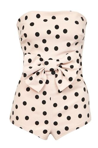 jumpsuit rockabilly 50s style old school bow cute pin up dots