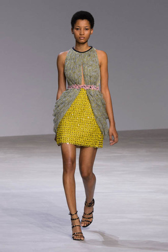 dress mini dress cocktail dress fashion week 2016 runway haute couture
