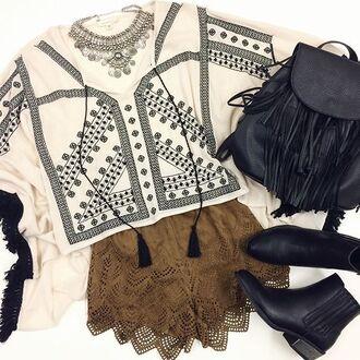 top poncho boho bohemian fringes tassel angl clothing shop angl angl kimono