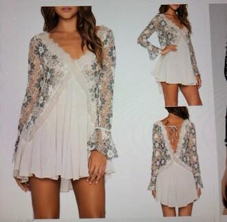 dress lace dress  v-neck pleated dress s
