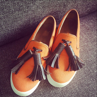 shoes orange loafers canvas shoes tassel chicago platform sneakers slip on shoes summer shoes casual canvas vans leather