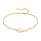 Jennifer zeuner jewelry cursive love bracelet - gold